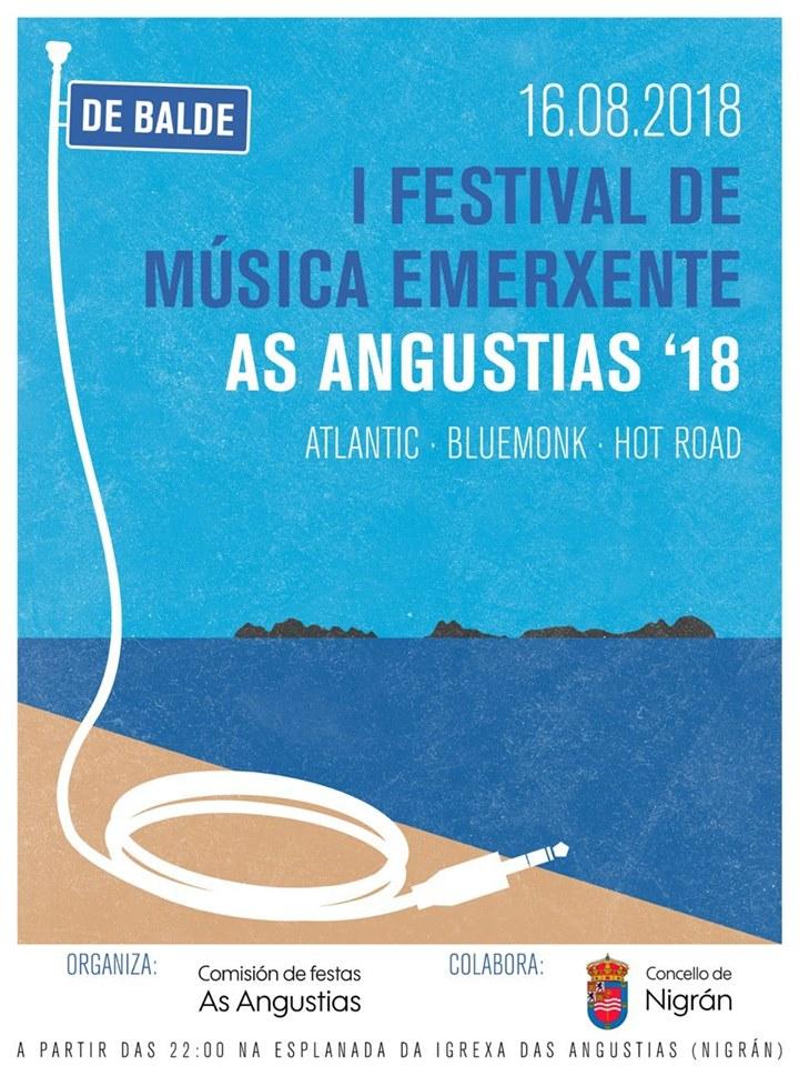 """""""I Festival de Música Emerxente"""": Atlantic, Bluemonk e Hot Road @ Torreiro das Angustias"""