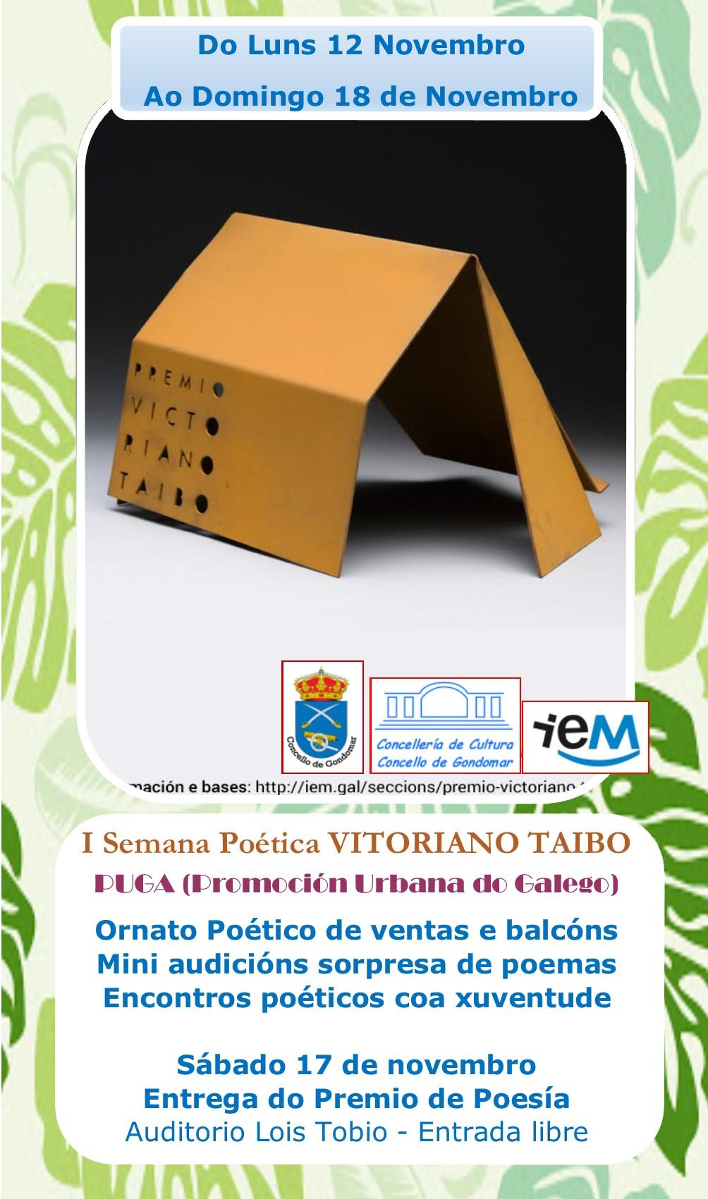 I Semana Poética Vitoriano Taibo @ Galicia | España