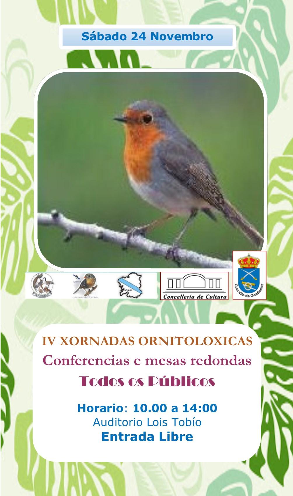 IV Xornadas Ornitolóxicas @ Auditorio Lois Tobío | Galicia | España
