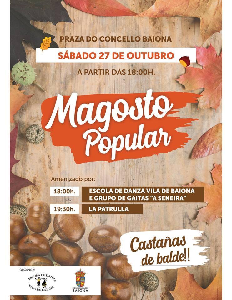Magosto Popular en Baiona @ Praza do Concello