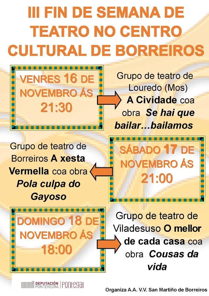 III Fin de Semana de Teatro @ Centro Cultural de Borreiros