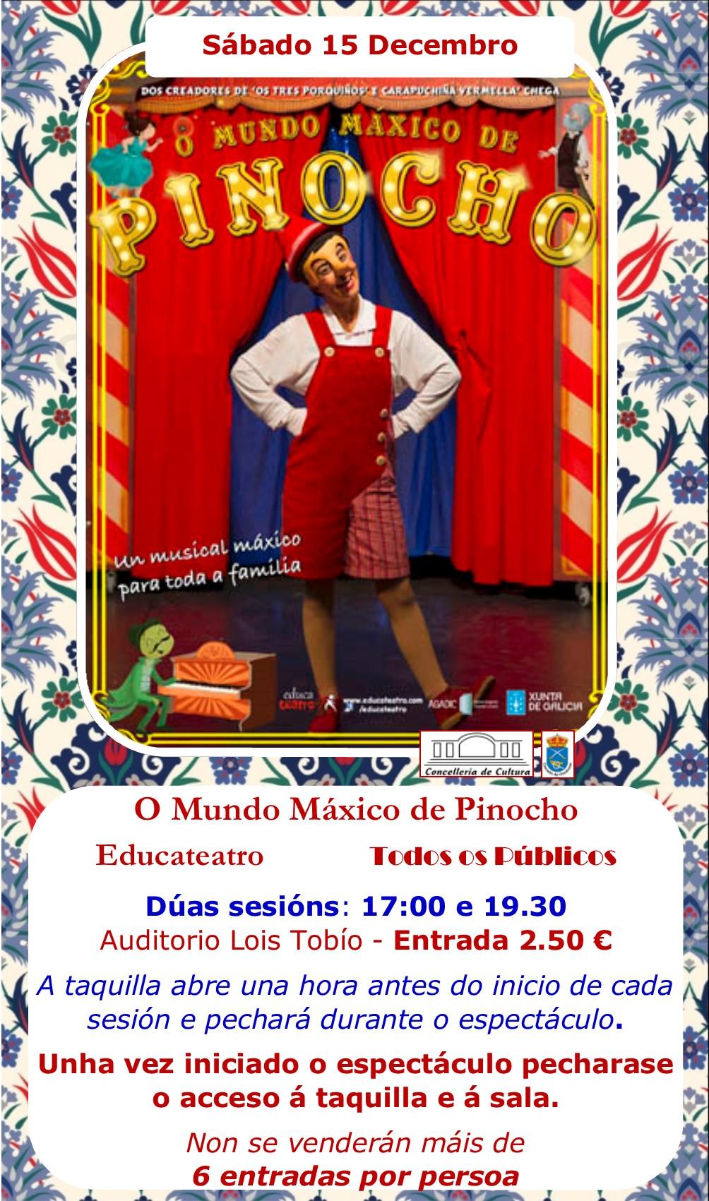 O Mundo Máxico de Pinocho @ Auditorio Lois Tobío